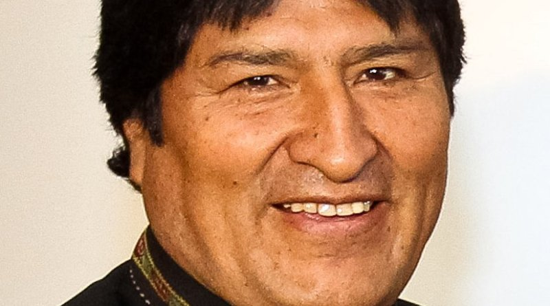 Bolivia's Evo Morales. Photo by Roberto Stuckert Filho/PR, Wikipedia Commons.