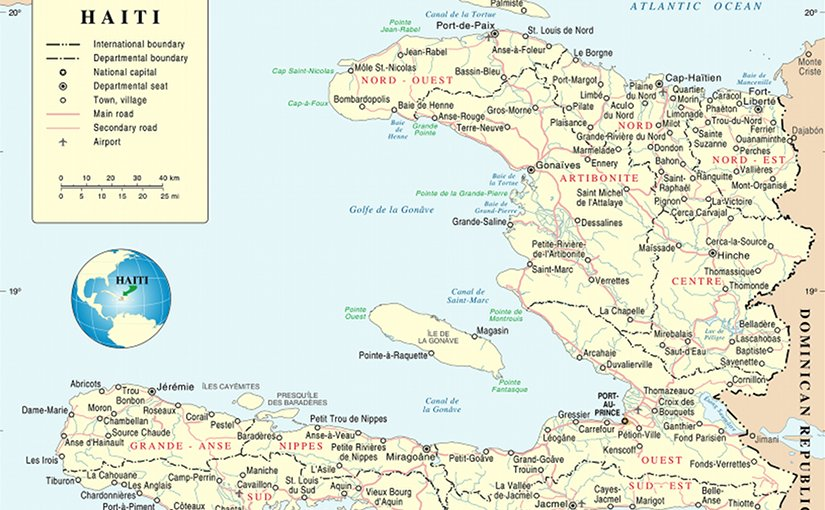 Map of Haiti. Source: United Nations.