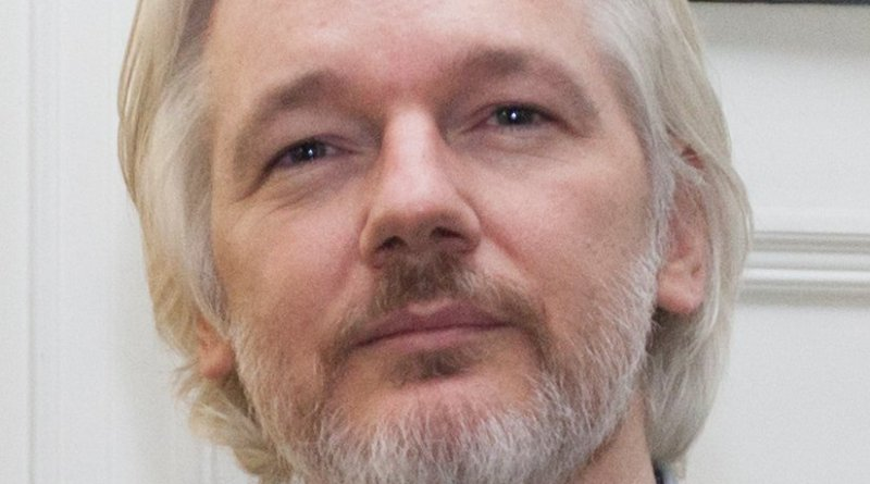 Julian Assange. Photo by David G Silvers, Wikipedia Commons.
