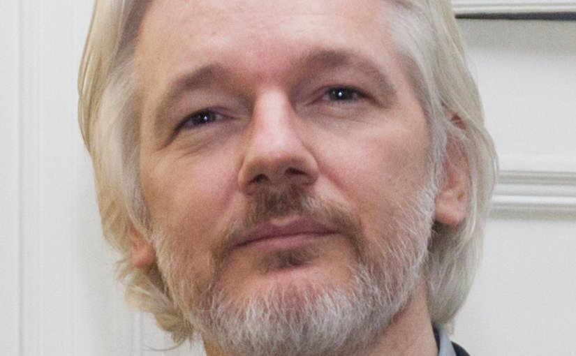 Julian Assange. Photo by David G Silvers, Wikipedia Commons.