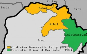 Kurdistan. Graphic by Kermanshahi, Wikipedia Commons.