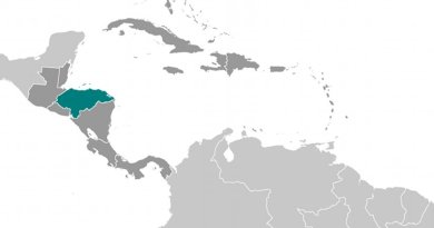 Location of Honduras. Source: CIA World Factbook.