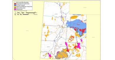 Oil shale and tar sand deposits in Utah. Source: U.S. Department of the Interior, Bureau of Land Management (BLM).