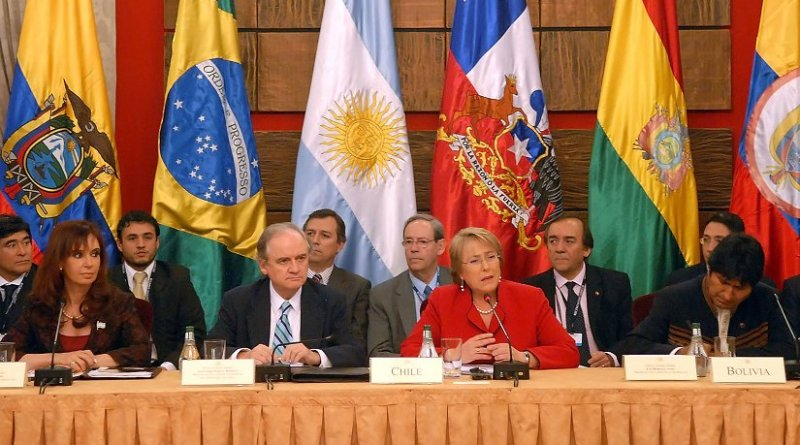 2008 UNASUR Summit. Photo Credit: Víctor Hugo Bugge, Casa Rosada's official photographer, Wikimedia Commons.