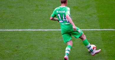 Kevin De Bruyne playing for Wolfsburg in 2015 and was sold to Manchester City for €75 million. Photo by Anish Morarji, Wikipedia Commons.