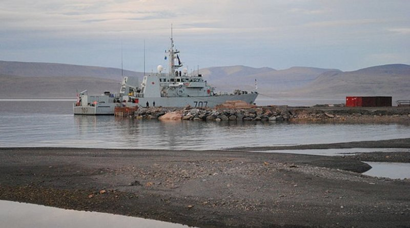 Canada's HMCS Goose Bay at Nanisivik. Photo by Goosepolish, Wikipedia Commons.