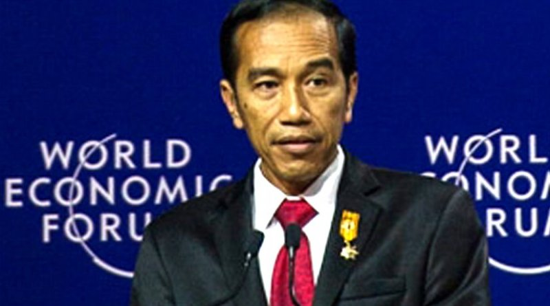 Joko Widodo in World Economic Fourm Jakarta. Photo by merdeka.com, Wikipedia Commons.