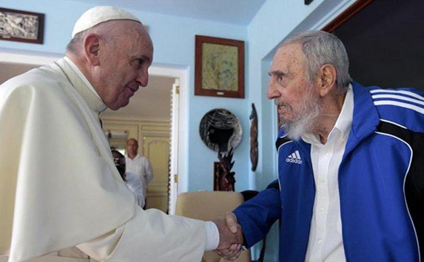 ope Francis and Fidel Castro in a private meeting, Sept. 20, 2015. Photo courtesy of Alex Castro via CNA.