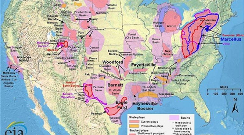 United States Shale gas plays. Source: EIA.