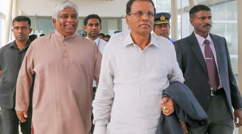 Sri Lanka President Maithripala Sirisena leaves for New York to attend the 70th United Nations' General Assembly (UNGA) Sessions.