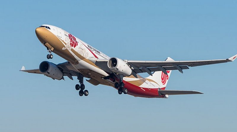 An Air China plane takes off from Munich Airport. Photo by Julian Herzog, Wikipedia Commons.