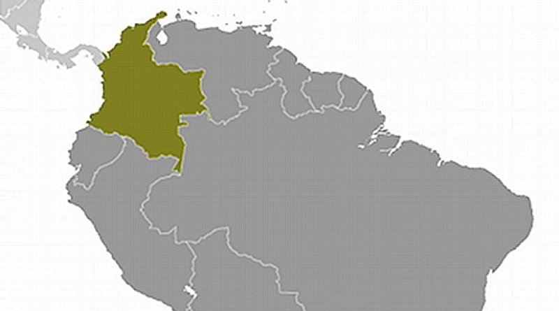 Location of Colombia. Source: CIA World Factbook.