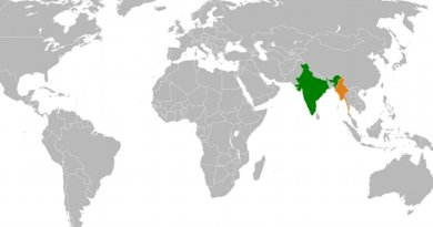Location of India and Burma (Myanmar). Source: WIkipedia Commons.
