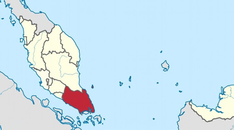 Location of Johor in Malaysia. Source: Wikipedia Commons.