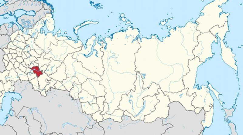 Location of Tatarstan in Russia. Source: Wikipedia Commons.