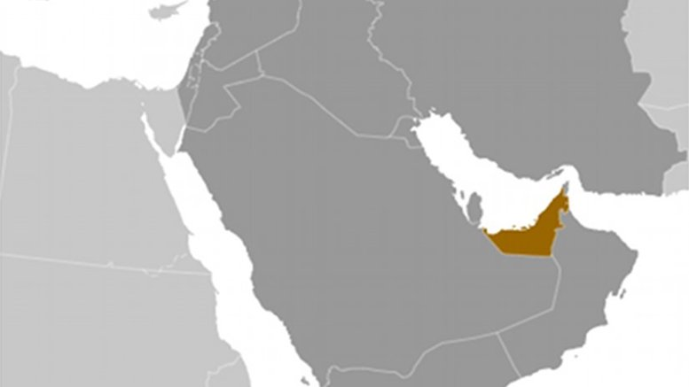 Location of United Arab Emirates. Source: Wikipedia Commons.