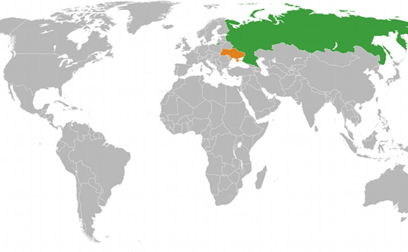 Locations of Russia and Ukraine. Source: Wikipedia Commons.