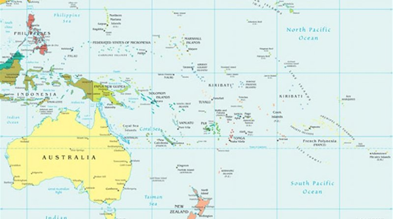 Map of Oceania. Source: CIA World Factbook.