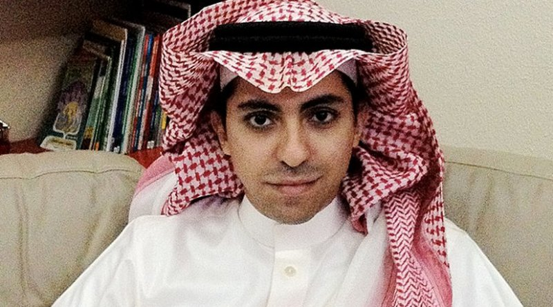 Saudi Arabian writer, blogger and activist Raif Badawi. Photo by Ensaf Haidar, PEN International, Wikipedia Commons.