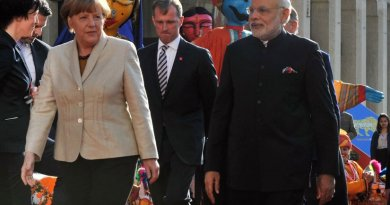 India's Prime Minister Narendra Modi and Germany's Chancellor Angela Merkel. Photo Credit: Narendra Modi, Wikipedia Commons.