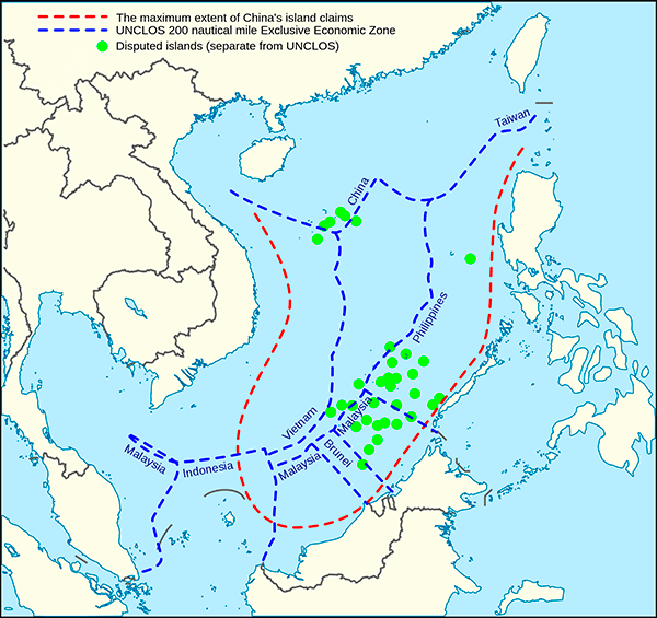 Figure 1. Overlapping sovereignty claims in the South China Sea Source: Council on Foreign Relations, Washington.