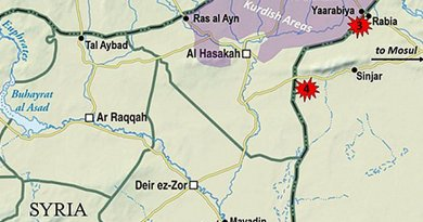 Region around al-Bukamal, Syria.