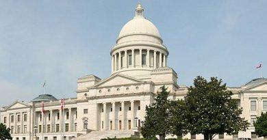 Arkansas State Capitol in Little Rock. Photo by Daniel Schwen, Wikipedia Commons.