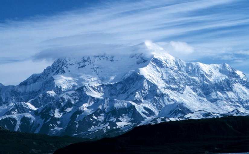 Mount Saint Elias, Alaska, US. Photo by David Sinson, NOAA, Office of Coast Survey, Wikipedia Commons.