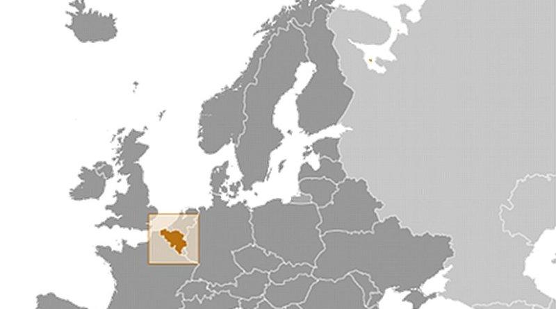 Location of Belgium. Source: CIA World Factbook.