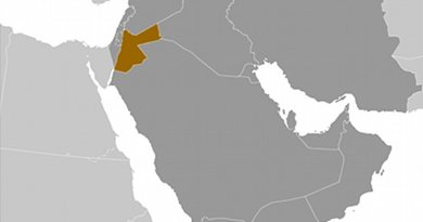Location of Jordan. Source: CIA World Factbook.