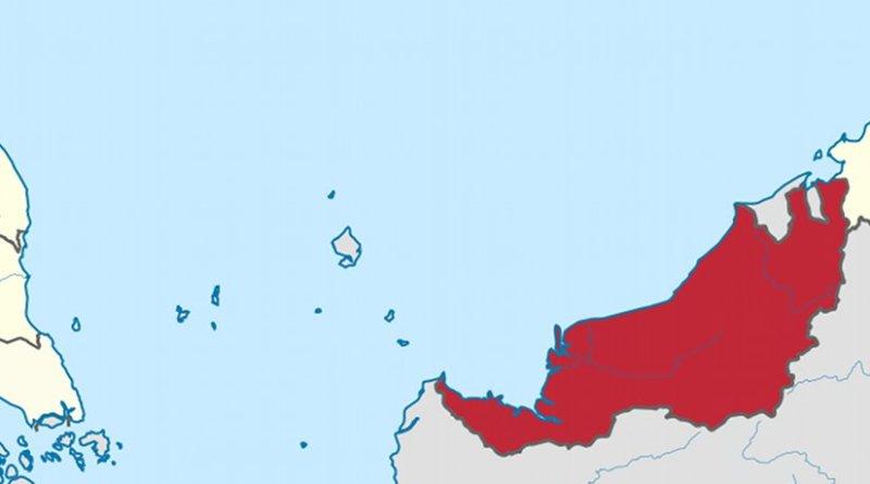 Location of Sarawak in Malaysia. Source: Wikipedia Commons.