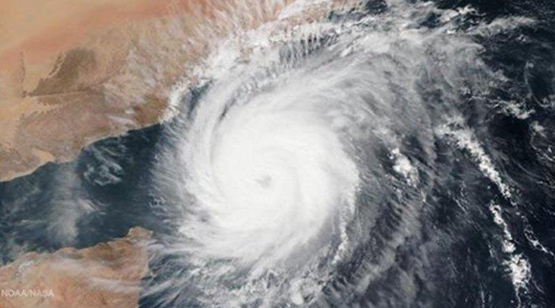 Cyclone Megh approaching Saudi Arabia and Yemen. Photo Credit: NOAA/NASA