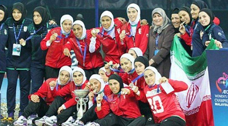 Iranian Women's Futsal Team. Photo via Radio Zamaneh.