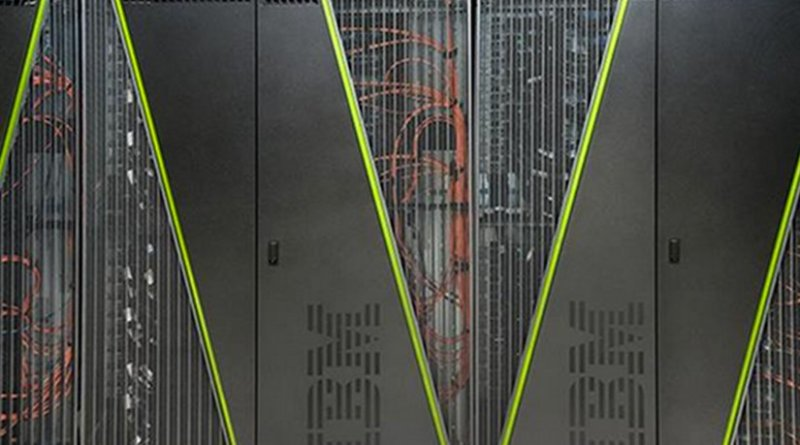 The IBM Blue Gene/Q supercomputer at Brookhaven National Laboratory, one of the machines used in the calculation.