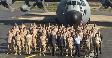Spain's Minister for Defence, Pedro Morenés, paid a visit to the Marfil Detachment of the Spanish Air Force stationed in Dakar, the capital of Senegal. Photo Credit: Ministerio de Defensa.