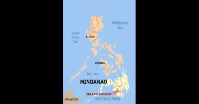 Map of the Philippines with Sultan Kudarat, Mindanao, highlighted. Source: Wikipedia Commons.