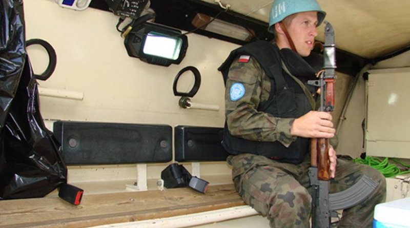 A peacekeeping soldier from Poland in Syria. Photo by Ministerstwo Obrony Narodowej, Wikipedia Commons.