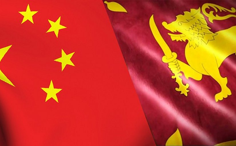 China and Sri Lanka flags