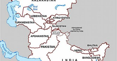 India, South Asia and Central Asia. Source: US State Department.