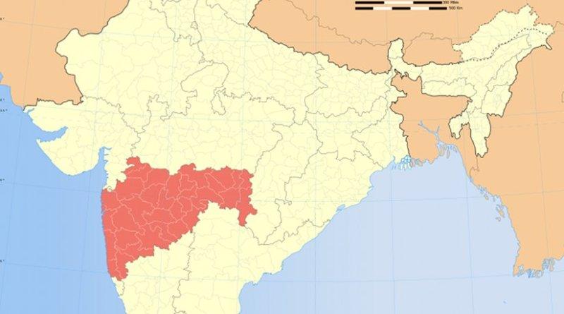 Location of Maharashtra in India. Source: Wikipedia Commons.