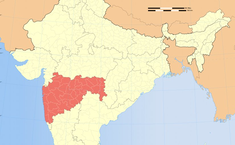 Location of Maharashtra in India. Source: Wikipedia Commons.