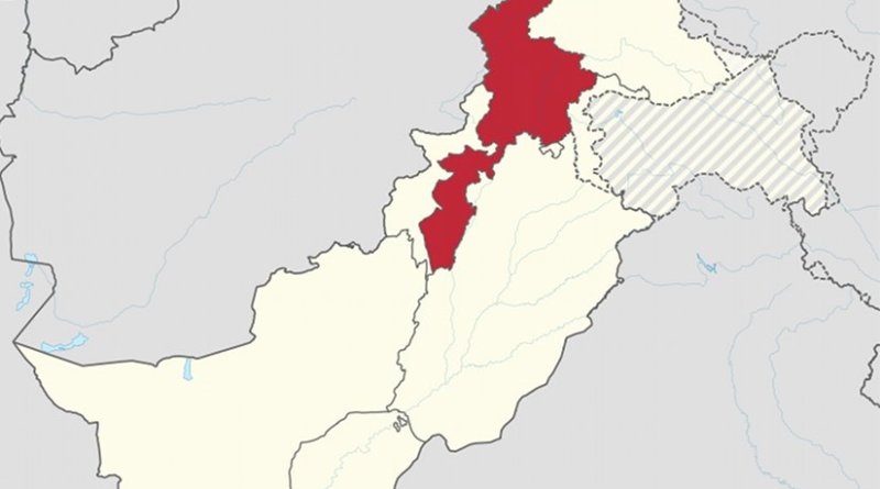 Location of Peshawar District in Pakistan. Source: Wikipedia Commons.