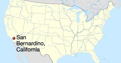 Location of San Bernardino, California. Source: Wikipedia Commons.