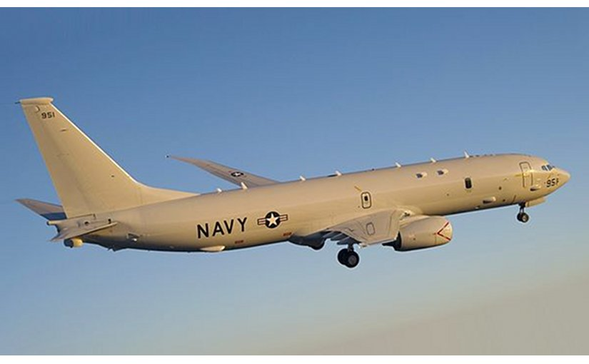 A US Navy P-8A Poseidon plane. Photo by Greg L. Davis, Wikipedia Commons.