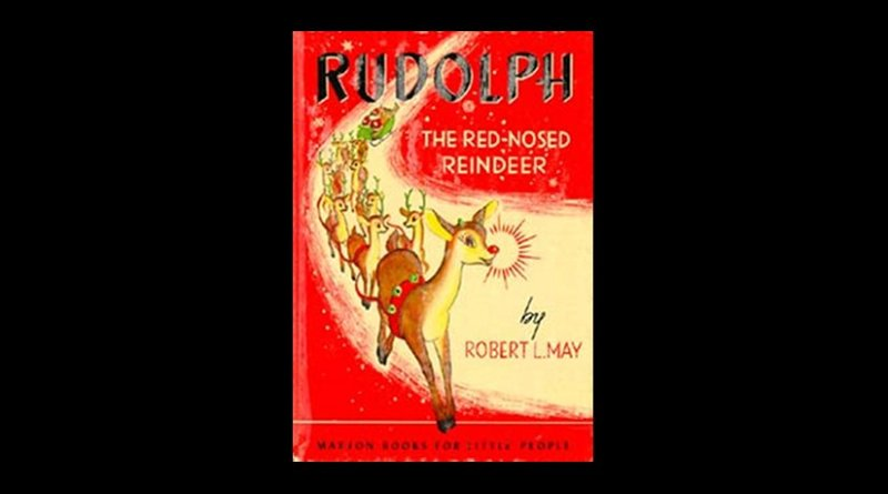 Promotional booklet cover of the original story of Rudolph The Red-Nosed Reindeer by Robert L. May