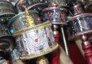 Tibetan prayer wheels.