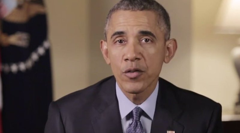 US President Barack Obama. Photo Credit: Screenshot of White House video.