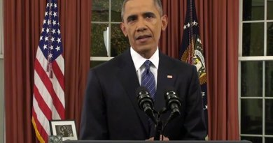 US President Barack Obama addresses the nation December 6, 2015. Photo Credit: Screenshot White House video.