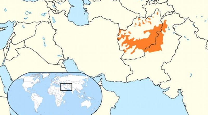 Native Pashtun areas in orange. Source: Wikipedia Commons.