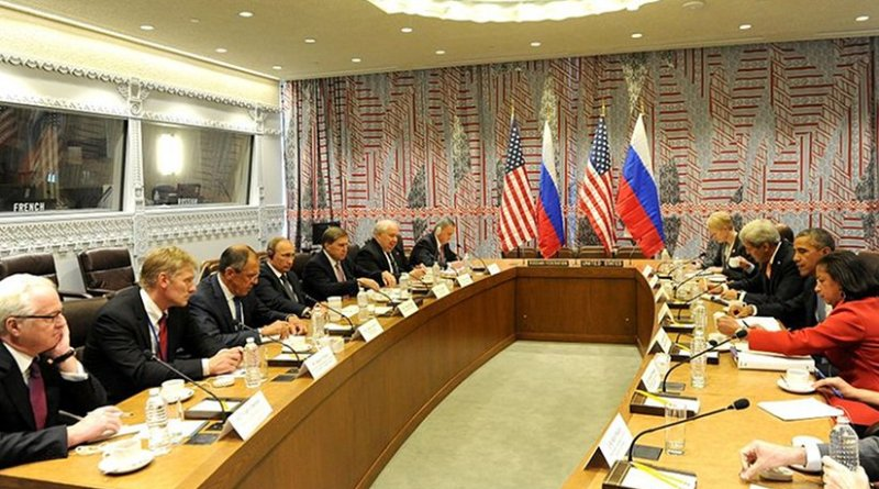 Russian and U.S. representatives meet to discuss the situation in Syria on 29 September 2015. Photo Credit: Kremlin.ru, Wikipedia Commons.